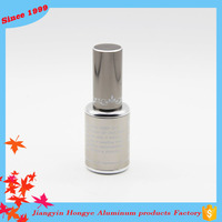15ml Brown custom aluminum nail polish bottle packaging