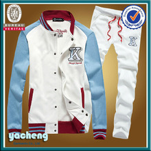 fashion jacket baseball sportswear cheap wholesale sweat suits high quality and fashion polo fleece jacket