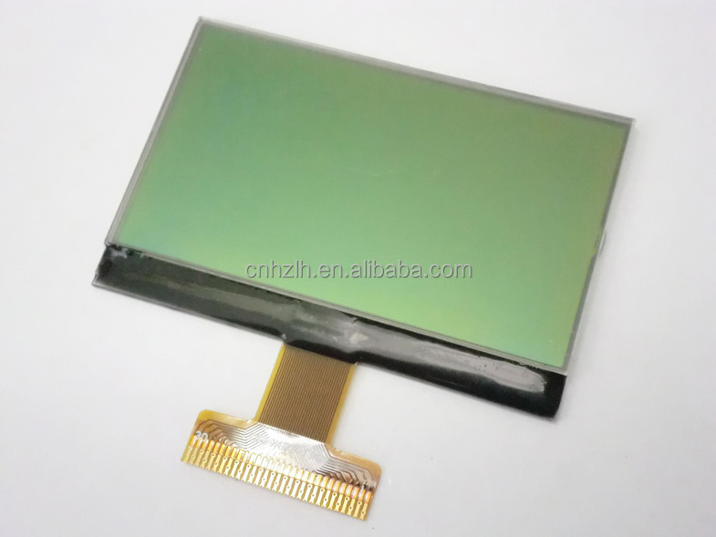 yellow-green backlight dot matrix 12864 STN type lcd cog with 25 pins