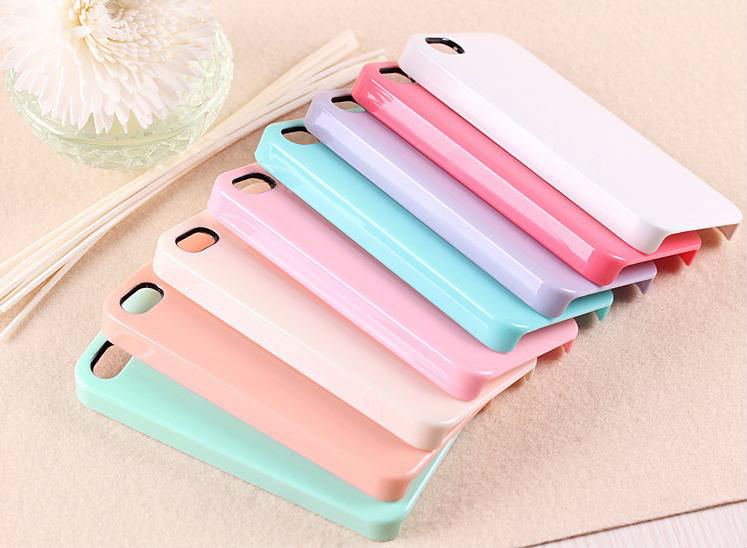 New Arrival Candy Ice Cream Color Crystal PC Plastic Hard Case Cover for Apple iPhone 5 5s
