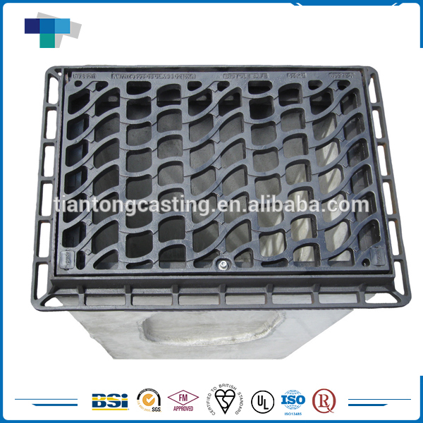 Custom square&range ductile cast iron channel gully grating