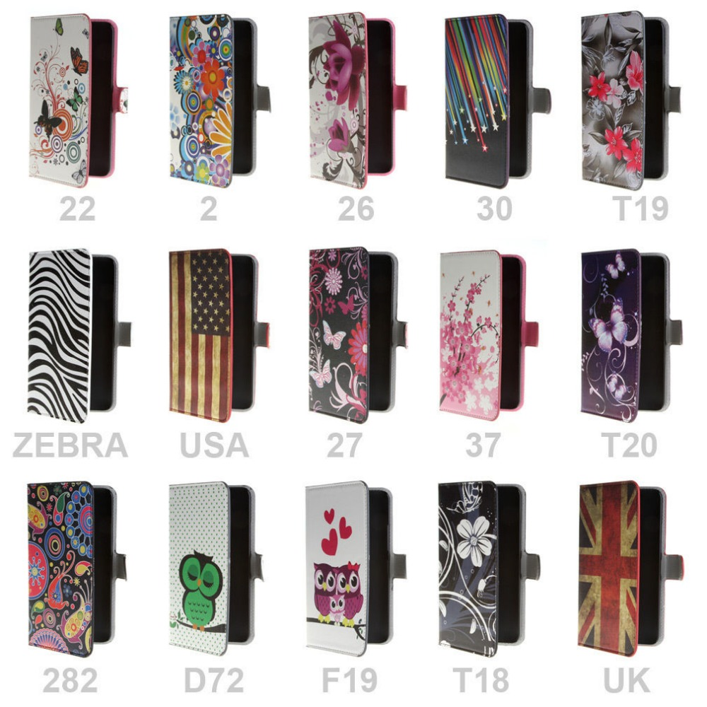 For Acer Liquid Z520 Art Flower Magnetic PU Leather Stand Flip Wallet Case Cover