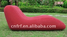 Inflatable S Shape Flocked Sofa Chair