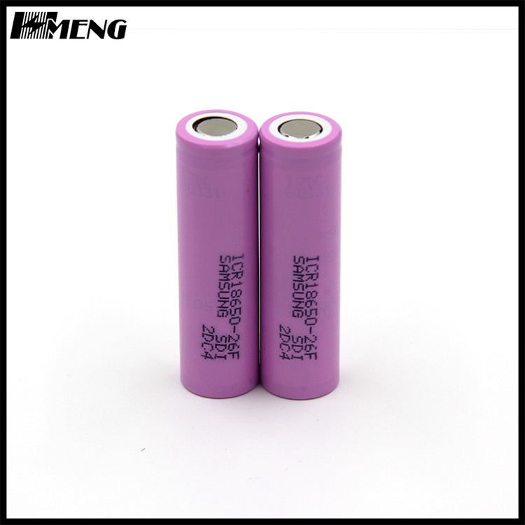 Lithium ion For Samsung 26FM 2600mah 18650 battery ICR18650-26FM rechargeable battery