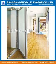 Home elevator with manual doors
