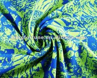 New design knitted printed nylon elastic fabric for swimwears