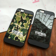 OEM and ODM 2017 hot sale tpu hybrid military camo pattern cell phone case and cover for iPhone 6 6s 6 plus 6splus