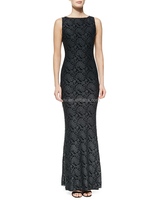 Wholesale High Quality Gown In Lace Over Tonal Underlay Chinese Clothing Manufacturers