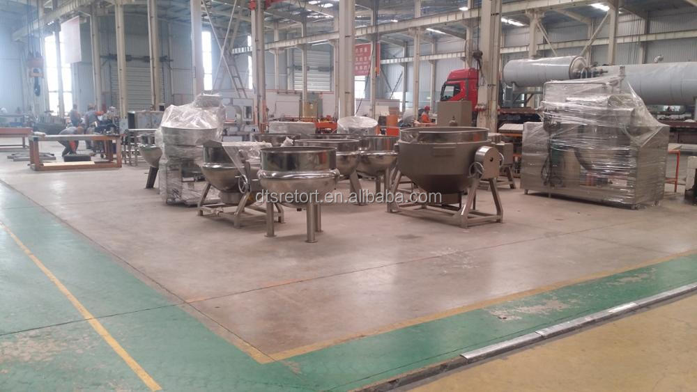 cooking mixer kettle, steam jacketed kettle, jacketed kettle with agitator