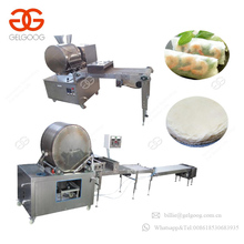 Square Or Round Lumpia Making Machine Samosa Sheet Production Line Spring Roll Machine