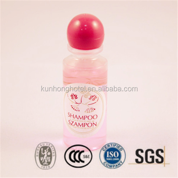 Hotel cosmetic shampoo bottle with customized logo