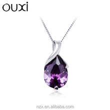 OUXI fashion factory direct sell gemstone silver jewellery Y30222