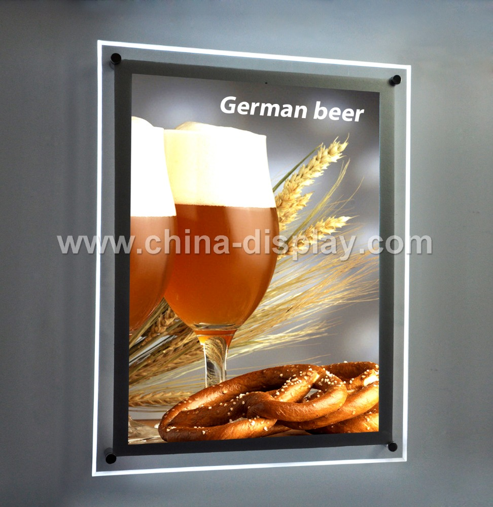 Hot Sales Advertising Product Easy Install Led Ultrathin Acrylic Specialty Lightbox