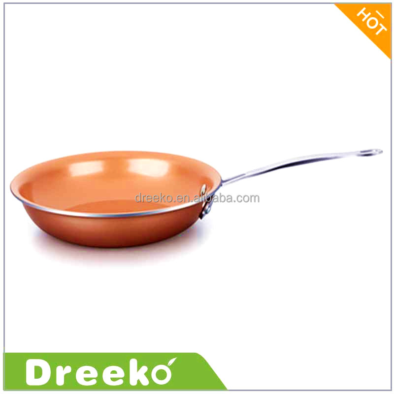 "12.5"" Ceramic Round Copper Non-Stick Titanium Frying Pan"