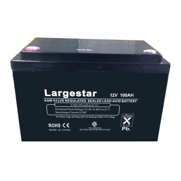 Copper terminal 12v 100ah sealed lead acid battery