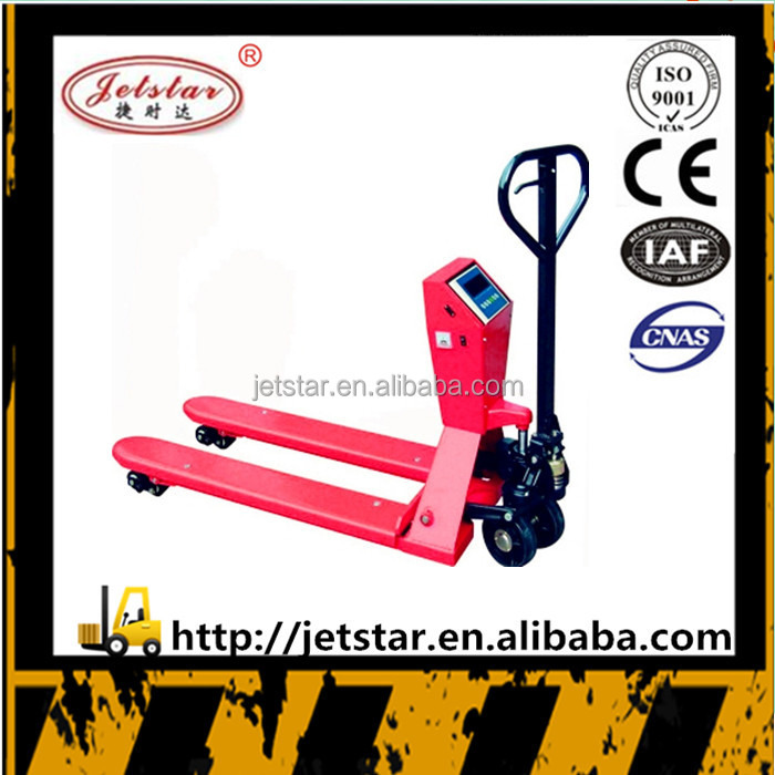 Weighting sensor hand operated pallet truck
