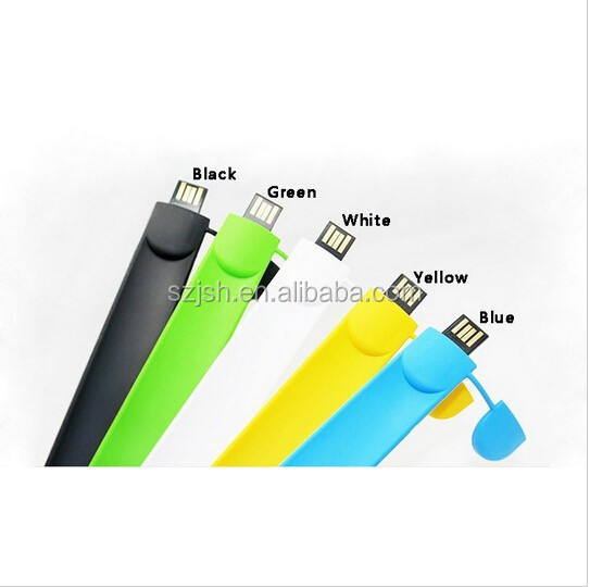 Hot Sale Giveway Flexible Silicone Wristband Shape USB Pen Drive with Customize Logo