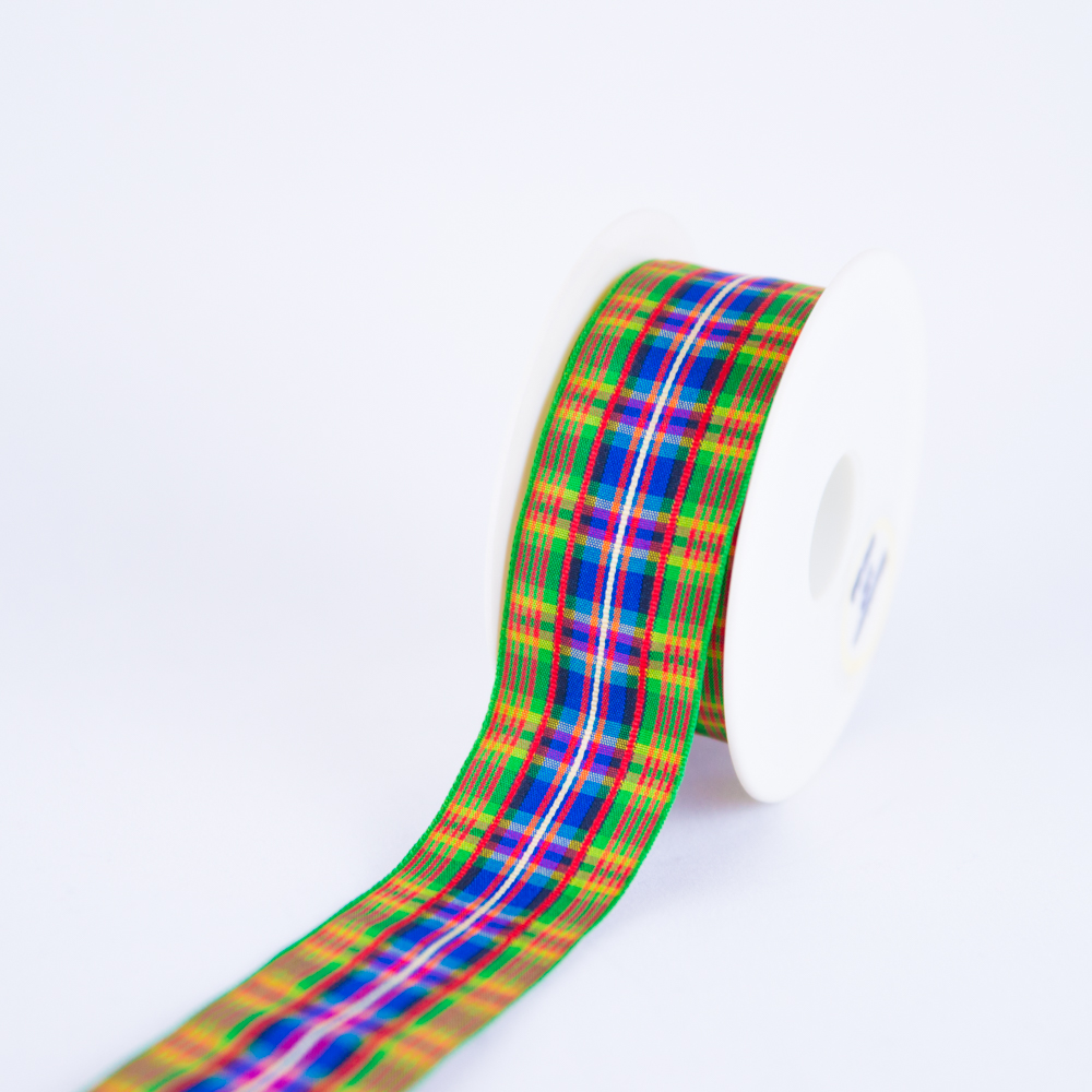 Tartan Fabric Wedding Decoration Ribbon