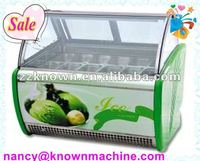 10 % discount ice cream display freezer with CE