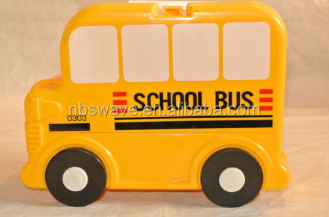 Yellow Plastic School Bus Lunch Box