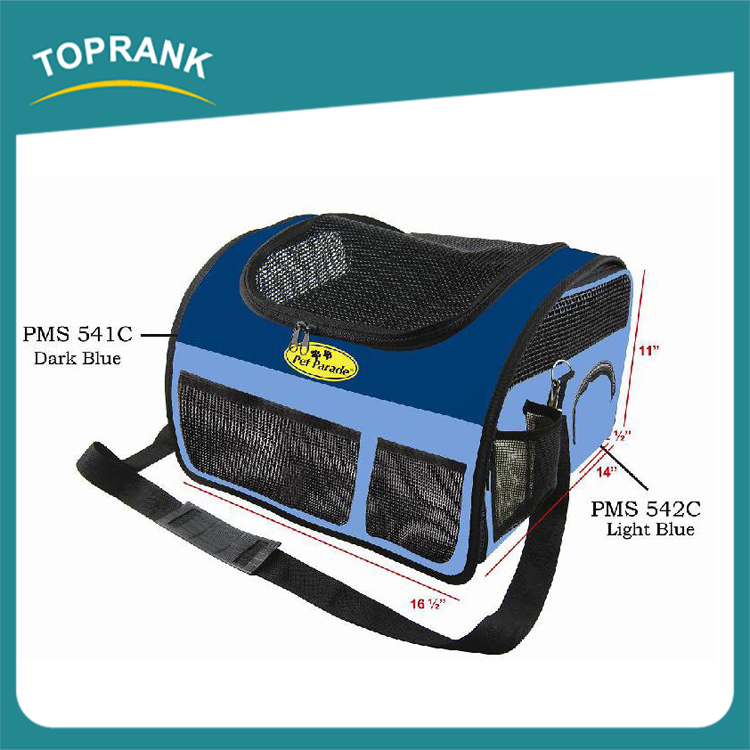 Soft portable PVC dog carrier bag, open top large dog carrier