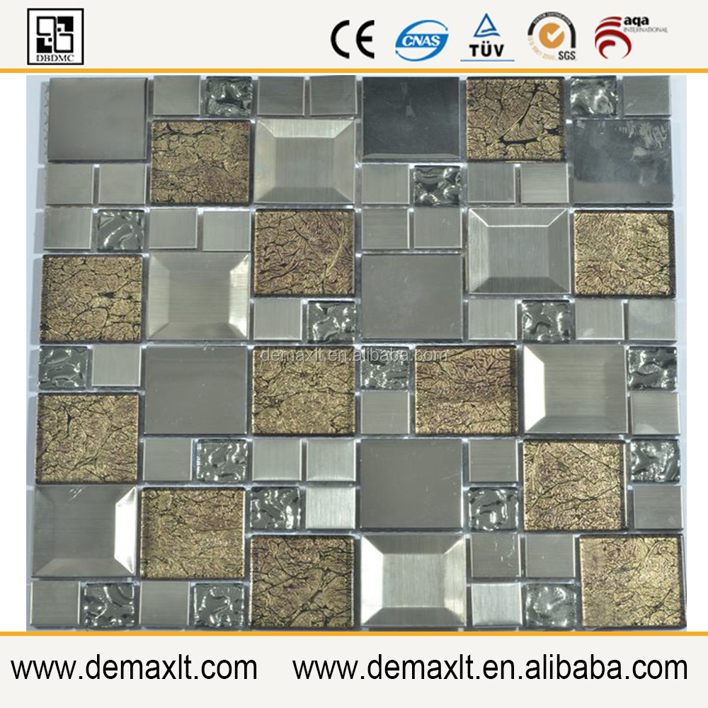 New Design White Glass and Slate Bisazza Style Back Splash Outdoor Tile Patterns