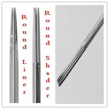 1218 Round Shaders(RS) sterilized tattoo needle 0.35mm