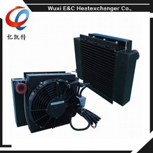 hydraulic oil package cooler with fan with motor with fan cover