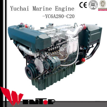 280HP 6 cylinder boat use diesel engine