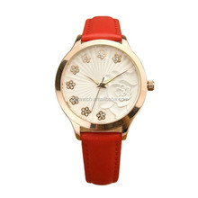 watches water resistant custom design leather wrist watch women leather band quartz watches ladies alibaba china supplier