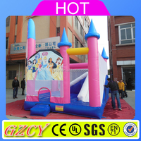 Inflatable Princess castle/air jumping castle for kids&adults