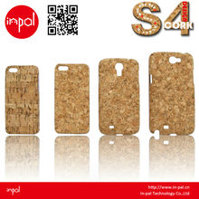 2013 special design felt bulk glossy cork mobile phone case for samsung galaxy S4 accessories