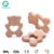 Natural Beech Wooden Teething Toy Animal Wood Baby Teether