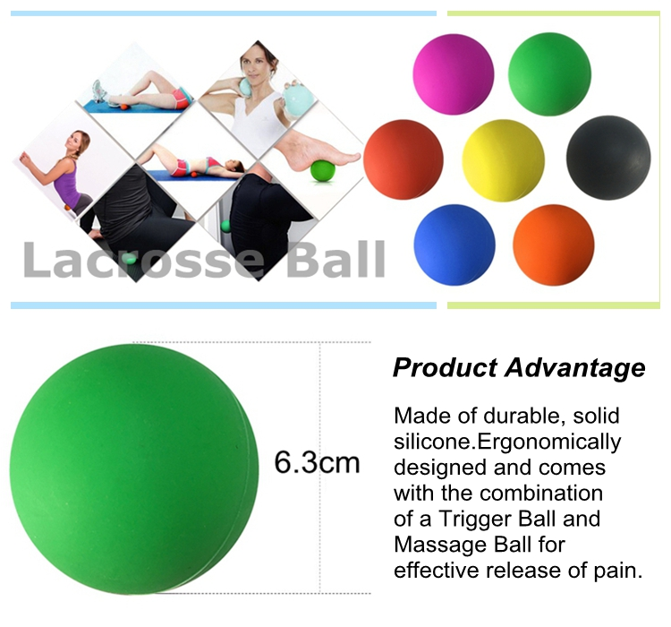 2016 hot style Physical Therapy massage lacrosse ball with SGS certificate