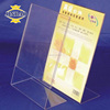 customized transparent acrylic plastic plexiglass advertising flyer holder display stand
