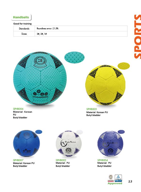 Handball ball size