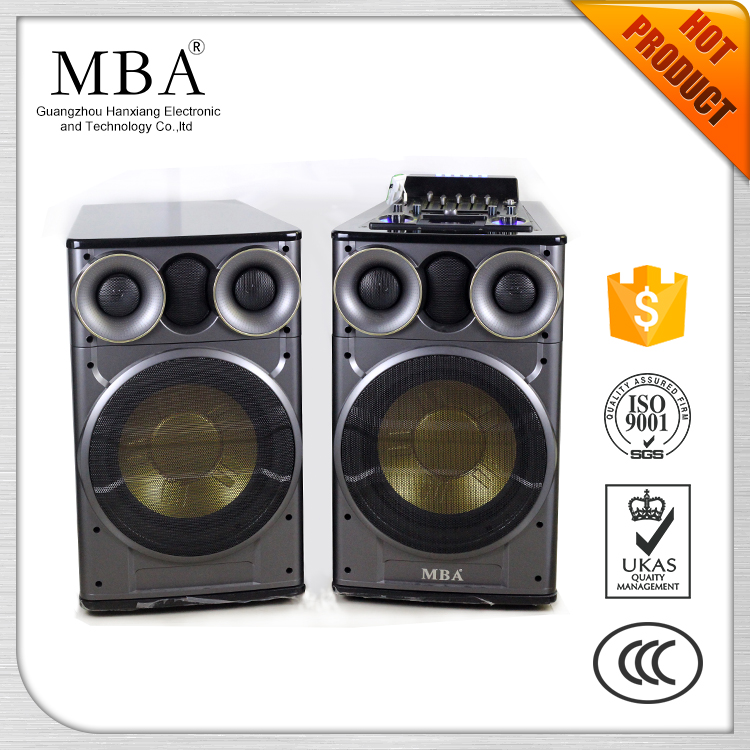 Double 12 Inch Woofer Professional Audio Outdoor Stage Sound System Speaker