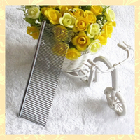 Long-hair pet metal grooming tool long hair comb