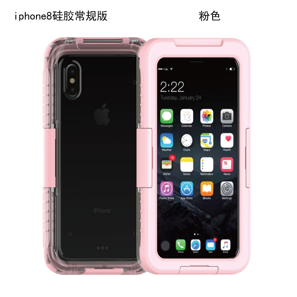 new arrivals 2018 amazon underwater diving armor water proof Waterproof Shockproof Hard silicone phone Cover Case For <strong>iphone</strong> x