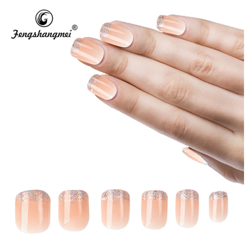 fengshangmei eco-friendly ABS artificial fake nails full cover different styles of acrylic nail tips