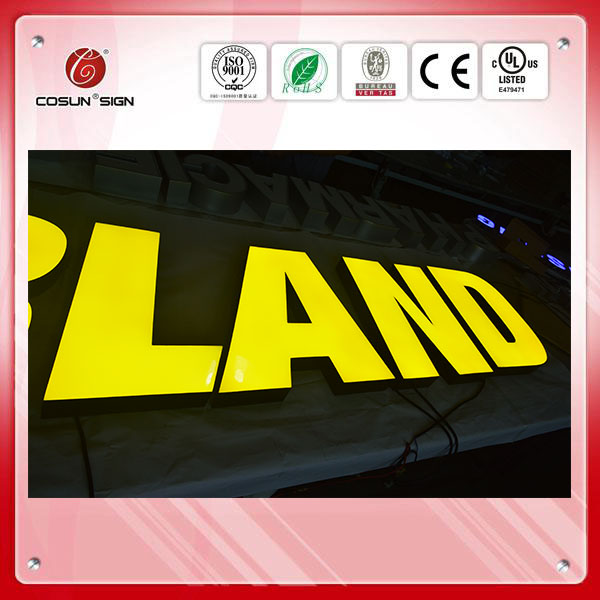 2015 new Hot sale outdoor sign board letters LED Resin letter for signage