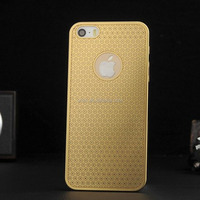 Sunflower pattern High quality metal titanium alloy case for iphone 4 4S