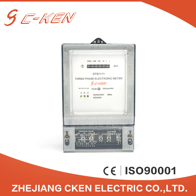Cken China Factory Direct Sale 3X220/380V 50Hz LCD Three Phase Energy Meter Electric Type Kwh Meter , Watt-hour Meter