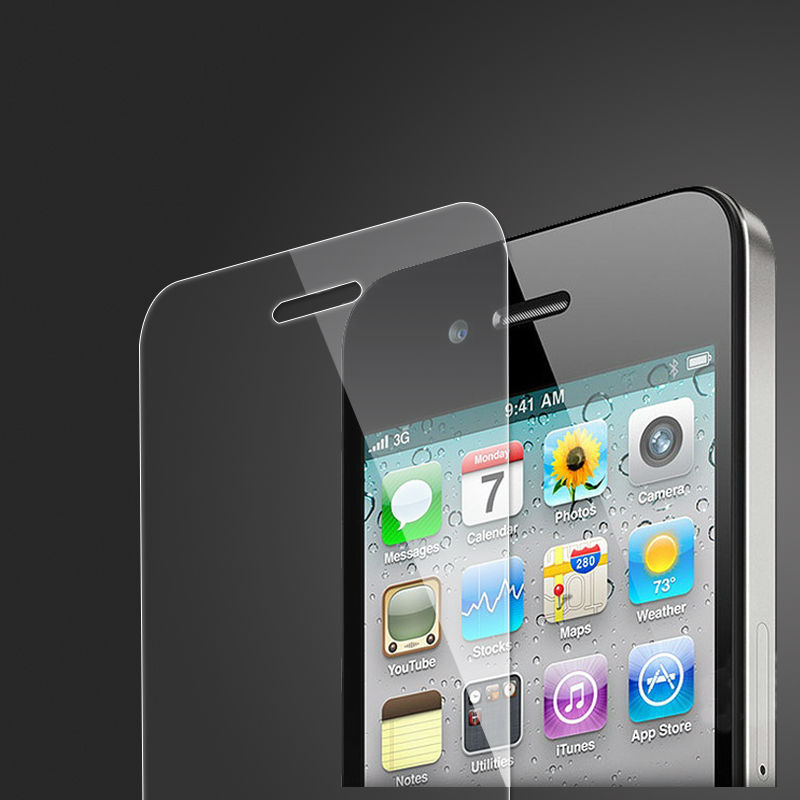 9H Super Clear tempered glass screen protector for Apple iphone 4 oem/odm (Glass Shield)