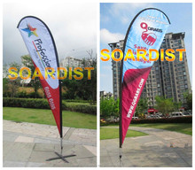 2015 high quality flying beach flag banner,teardrop flag, red white blue flag