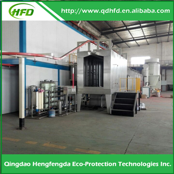 Hot Selling Automatic polyester powder coating line with uv curing oven