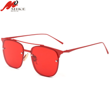 Mike Optical 2018 Ready Stock Clear Lens Cheap Fancy Square Charm Sunglasses with Mirror Coating