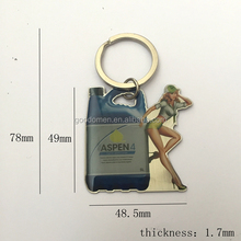 Custom Printing Epoxy Stainless Iron KeyChains For Promotional Gift