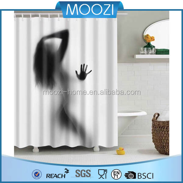 Decorative Custom Printed Waterproof Shower Curtain 72 Inch By 72 Inch