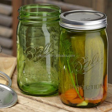 Clear empty 64 oz large glass pickle jars with lid wholesale